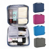 Custom Waterproof Square Makeup Organizer Toiletry Bag With Mesh Pockets