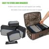 Custom 5pcs Set Waterproof Packing Cubes Organizers With Durable Waterproof Material
