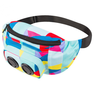 Waterproof Nylon Fanny Pack For Sports Running Speaker Waist Bag