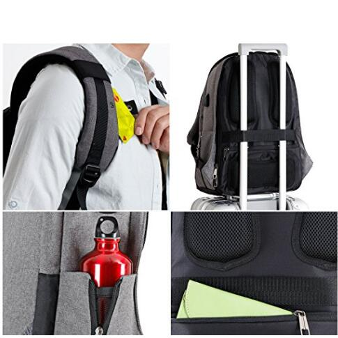 Custom 17 Inch Affordable Laptop Backpack Business With USB Charging Port And Waterproof