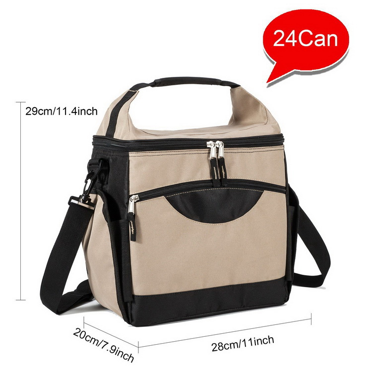 Waterproof Soft Portable Lunch Cooling Tote Bags For Men And Women With Removable Shoulder Strap