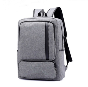 Newest Durable Waterproof Laptop Bag USB Backpack School With Leather Trim
