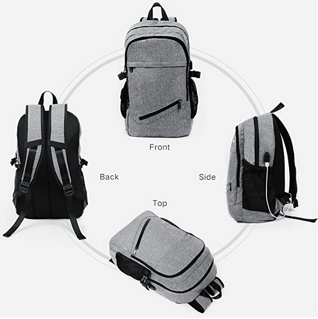 Wholesale Waterproof Backpack Laptop Bags With USB Charging Port For College