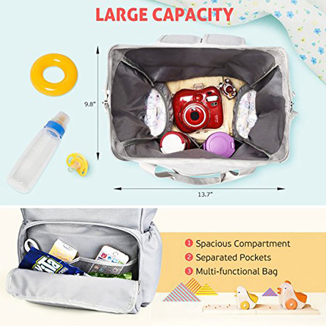 Unique Baby Diaper Bag Backpack With Waterproof Oxford Fabric