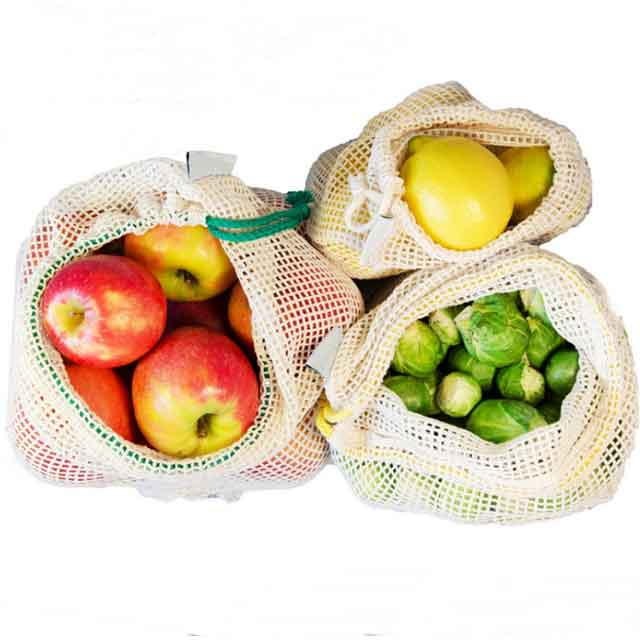 Eco Organic Cotton Grocery Tote Bags With Drawstring For Shopping With Factory Price