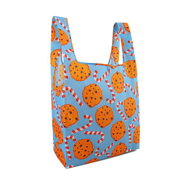 Reusable Foldable Grocery Tote Bags Set With Lightweight Ripstop Polyester Material