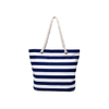 Fashion Stripe Recycled Canvas Beach Tote Bags