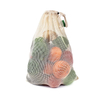 Cotton Mesh Grocery Tote Bags For Vegetables And Fruits With Washable And Reusable Material