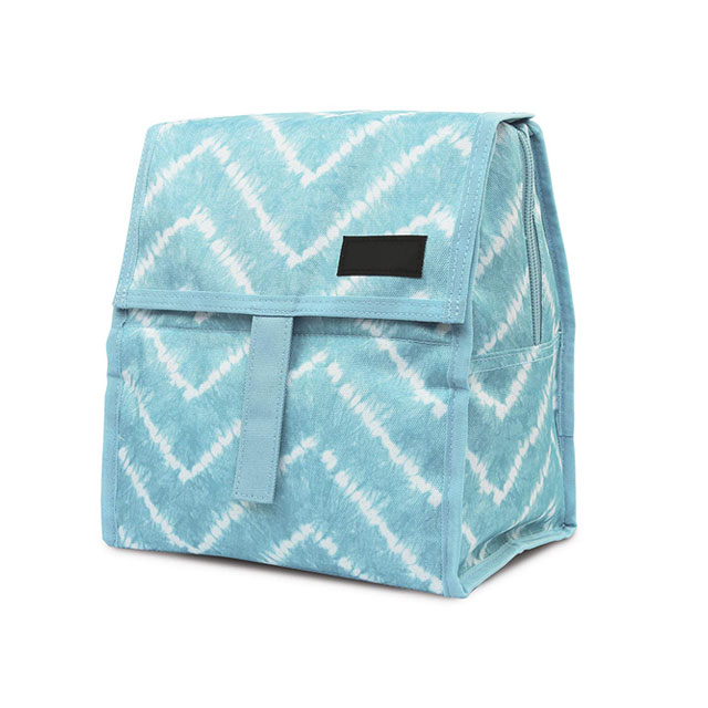 Foldable Insulated Tote Cooler Bag With Zip Closure