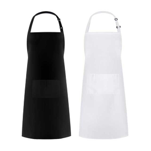 Waterproof Adjustable Thicker Version Cooking Kitchen Apron 2 pcs With 2 Pockets