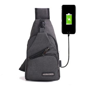 Cancvas Travel Sling Backpack with usb charger