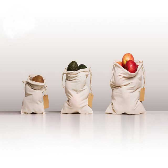 Best Reusable Organic Cotton Muslin Produce Bags In Bulk With Eco-Friendly Material
