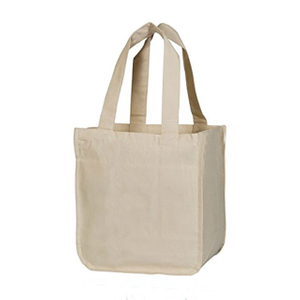 Eco Friendly 100% Organic Cotton Grocery Shopping Bags For Supermarket